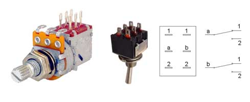 Different types of DPDT Switches